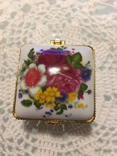 "Porcelain jewelry box 3""  Square Shaped Brand New"