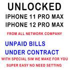 Unlock iPhone 6 7 8 X Xs XR 11 12 13 Pro Max Unpaid bills Under Contract