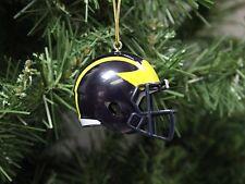 Michigan Wolverines, SpeedFlex Football Helmet Christmas Ornament
