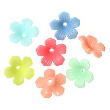10x perlas tapas perlkappen remates filigrana flores para 12mm perlas colores Mix