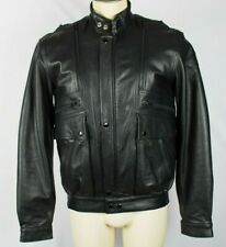 Hein Gericke CONCORD Black Leather Motorcycle Jacket w/Snap Liner 40 Tall MINT!