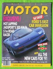 Motor Mar 1991 Callaway Twin Turbo Corvette Roadster Mercedes 500E Jaguar XJR-15