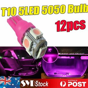Pink/Purple T10 192 W5W 5SMD LED Car Interior Map Dome Courtesy Door Light 12PCS
