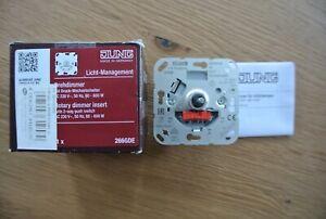 JUNG Drehdimmer mit Druck-Wechselschalter AC 230V,-50Hz, 60-600W 266GDE