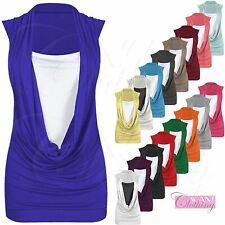 Unbranded Cowl Neck Waist Length Tops & Shirts for Women
