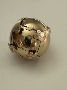 Vintage 9ct Gold & Silver Masonic Ball Orb Puzzle Cross Pendant 10.6g