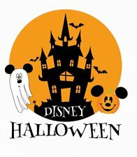 DISNEY MICKEY MINNIE MOUSE HALLOWEEN  T-SHIRT IRON ON TRANSFER