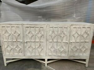Solid Wood Hand Carved Large Sideboard White 180 (MADE TO ORDER)
