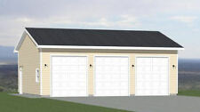 36x28 3-Car Garage -- 1,008 sq ft -- PDF Floor Plan -- Model 11D