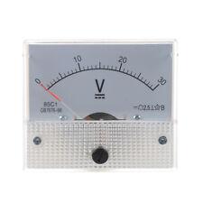 Analogue 30V DC Voltage Needle Panel Meter Voltmeter C5I7