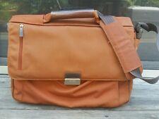 """NAVA Arc Shoulder Bag Orange Nylon Carry On Laptop Briefcase Messenger Bag 18"""" W"""