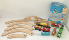 THOMAS THE TRAIN Magnetic Wooden Car Toy Lot Sodor + 1 Brio + Add on Track