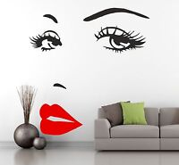 MARILYN MONROE SEXY FACE wall art stickers wall quote vinyl GRAPHIC classy