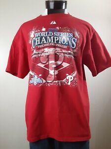 Philadelphia Phillies T-shirt Men's Size XL Red 2008 World Series Champs