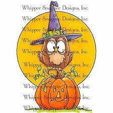 Halloween Hoot Pumpkin, Unmounted Rubber Stamp Whipper Snapper Designs New CY686