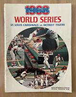 VINTAGE 1968 WORLD SERIES PROGRAM - DETROIT TIGERS @ ST LOUIS CARDINALS - BUSCH