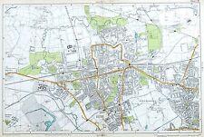 LONDON, 1919 - EALING, ACTON, HANWELL, GREENFORD,  Original Antique Map