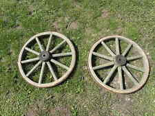 country WHEEL wood Cart CARIOLE country old garden campaign side holiday cottage