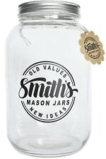 1 Gallon Glass Jar with Plastic and Metal Lids by Smith's Mason Jars Ideal for K