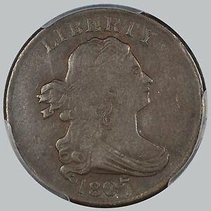 1807 1/2C BN Draped Bust Half Cent PCGS XF Details