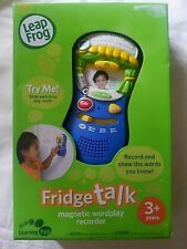 Leap Frog Fridge Talk Magnetic Wordplay Recorder Brand New