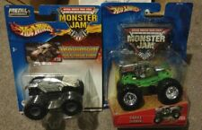 Hot Wheels Monster Jam Chrome Grave Digger and MaxD 1/64 trucks RARE