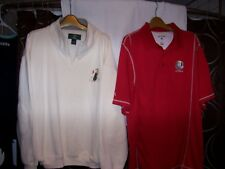 men's XL superb Orvis soft & warm golf pullover & Ryder Cup shirt 2012 Medinah
