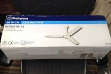 "NEW 7840900 Industrial 56"" Three Blade Indoor Ceiling Fan WHITE W Steel Blades"