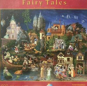 Fairy Tales 1500pc Jigsaw Puzzle Fantasy Folk-art Sunsout JAMES C CHRISTENSEN