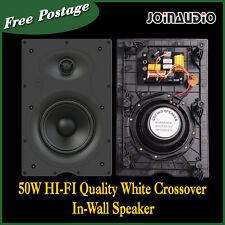 2x50W Wall Speaker Grill Edgeless White 8OHM HIFI Speaker 2pcs/1set