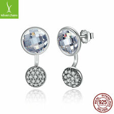New Arrival 925 Sterling Dazzling Poetic Droplets Pave CZ Crystal Stud Earrings