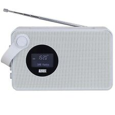 August MB415 - Portable DAB Clock Radio with NFC Bluetooth Speaker - Colour Grey