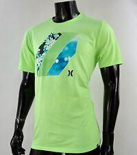 New HRL-121 Classic Hurley Green Neon Logo Mens T-Shirt