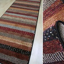 modischer Teppich Läufer *Infi Zagros rot multi* 80 cm breit gewebt NEU