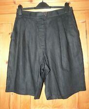 Ladies Black Linen AUSTIN REED City Shorts Size 10/12