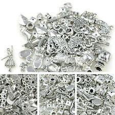 50g Tibetan Silver Mixs Pendant Beads Charms Caps DIY Jewelry Making Findings