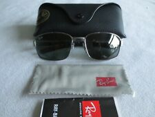 Ray Ban gunmetal sunglasses. RB 3413 004. With case.