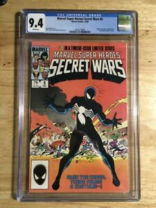 Secret Wars 8 -  CGC 9.4 (NM) White Pages Origin 1st Black Suit Spider-Man Venom