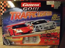 CARRERA GO 1:43 TRAFFIC LIGHT DUEL SLOT CAR SET With MINI COOPER CARS #62101