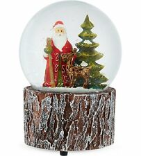 Gisela Graham Woodland Santa Snowglobe - Christmas Snowglobe