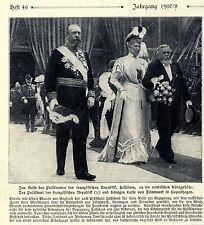 Königin Luise von Dänemark und der französische Präsident in Kopenhagen 1908