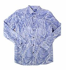 Tasso Elba Long Sleeve LS Plaid Button Up Shirt $69 100/% Cotton w// Point Collar