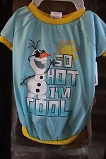 "DISNEY FROZEN  ""So Hot I'm Cool"" Olaf Apparel For Dogs -Shirt Large-"