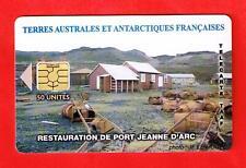 A   VOIR     TELECARTE     TAAF     RESTAURATION DE PORT JEANNE D'ARC       TAAF
