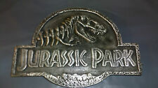 Jurassic Park Plaque- Resin Replica. display silver