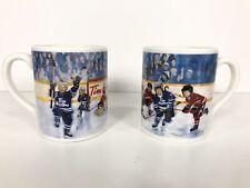 Tim Hortons Limited Edition Coffee Mug - Winning Goal #002 Hockey Scene Set Of 2