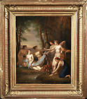 18th CENTURY SIGNED FRENCH OIL ON CANVAS - DIANA NYMPHS BATHING - PAUL PRUD'HON