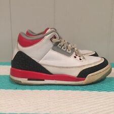 Air Jordan 3 Retro Fire Red Size 6.5Y III 6.5 White 2013