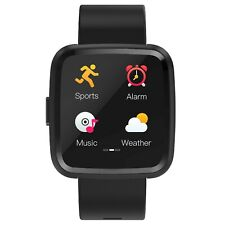 Fitness Tracker Smartwatch noziroh Black Bluetooth 4.0 for Smartphone Ios Andro