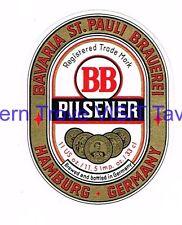 BB St Pauli Brauerei Pilsener 11 US oz Hamburg Bavaria Germany Tavern TRove